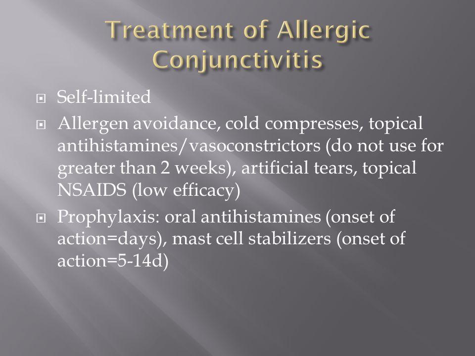 Treatment of Allergic Conjunctivitis