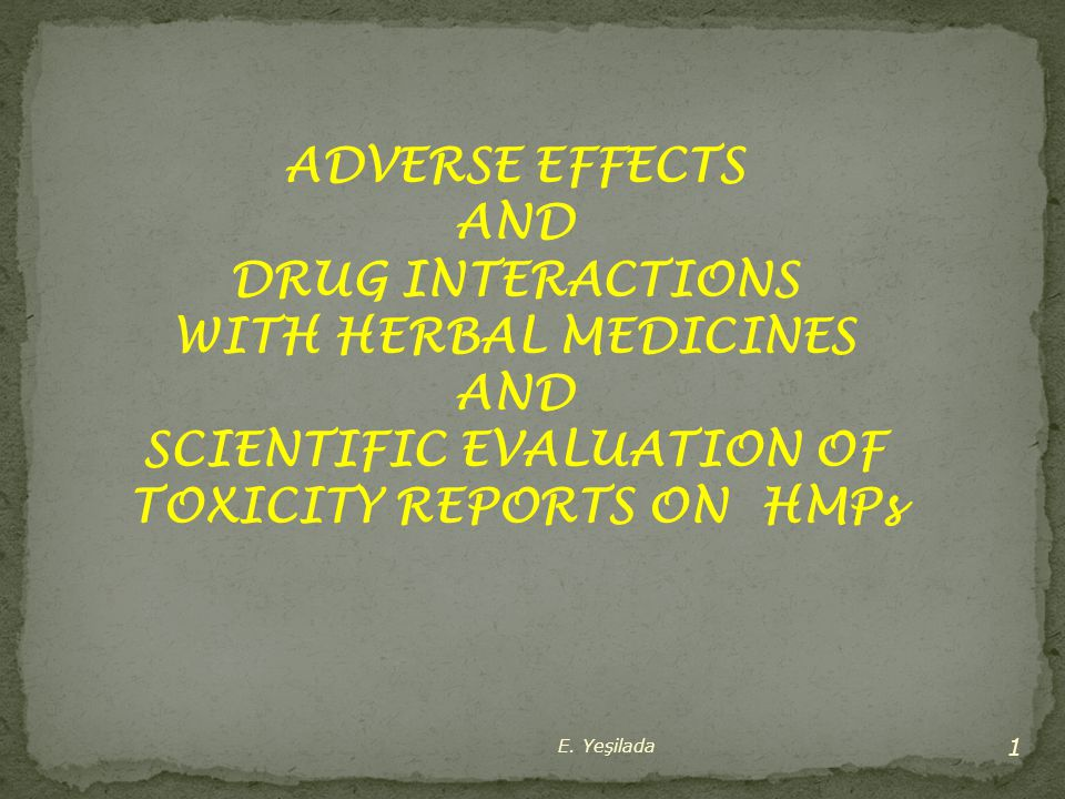 SCIENTIFIC EVALUATION OF TOXICITY REPORTS ON HMPs