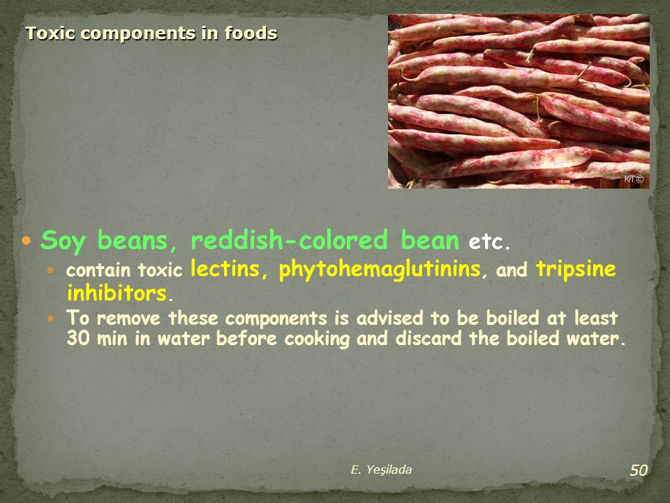 Toxic components in foods