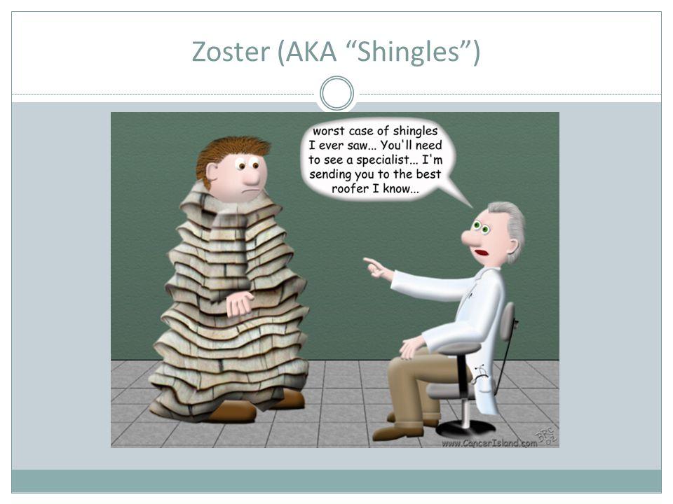 Zoster (AKA Shingles )