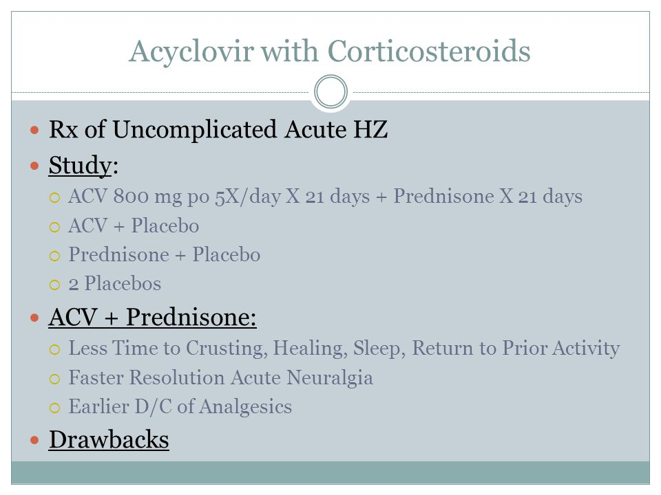 Acyclovir with Corticosteroids