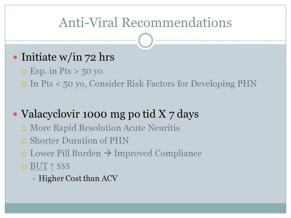 Anti-Viral Recommendations