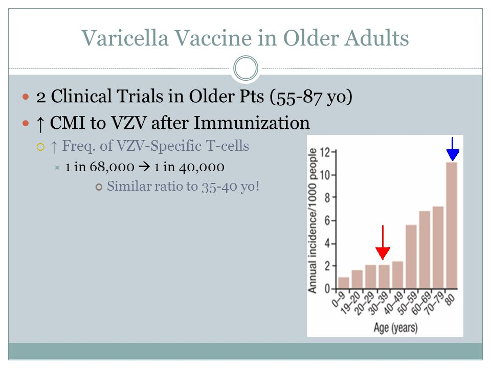 Varicella Vaccine in Older Adults