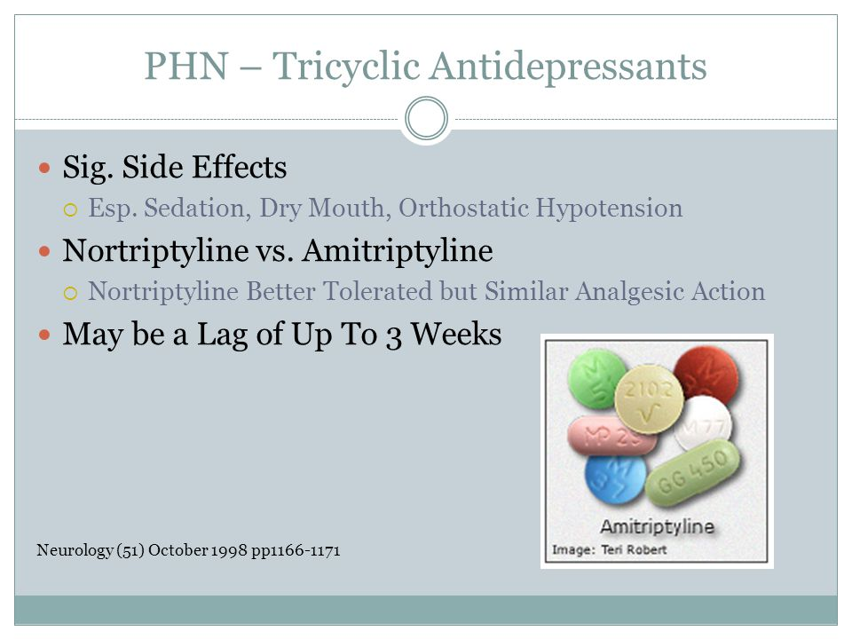 PHN – Tricyclic Antidepressants