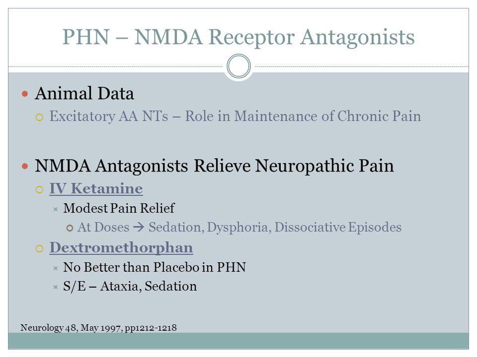PHN – NMDA Receptor Antagonists