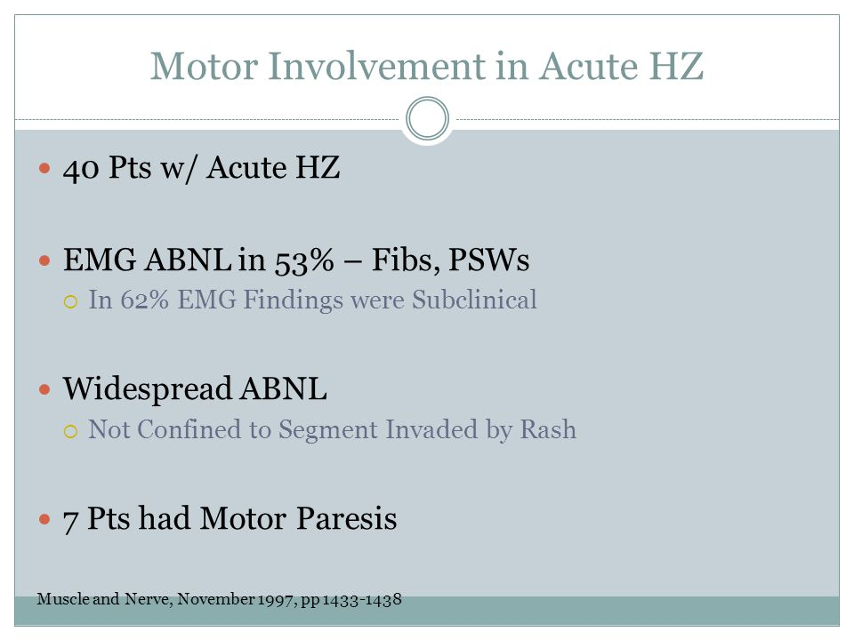 Motor Involvement in Acute HZ
