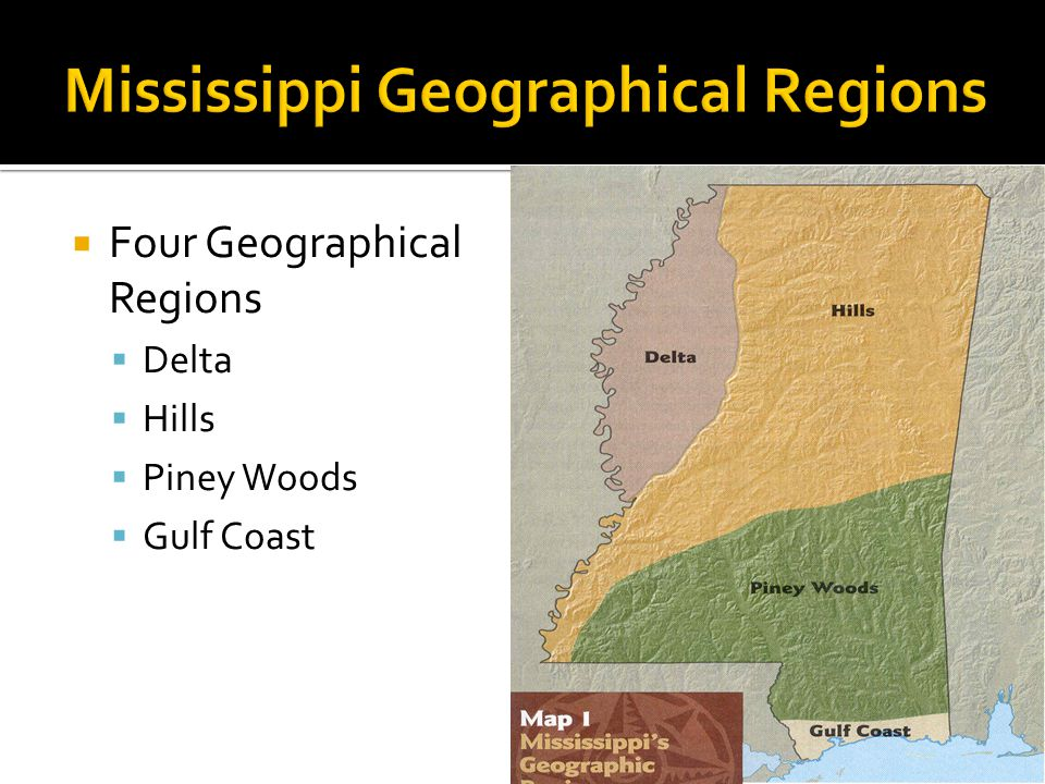 Mississippi Geographical Regions