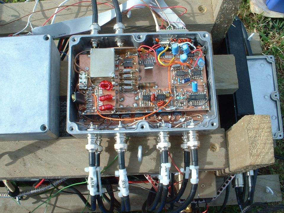 This is a picture of the receiver and antenna combiner unit