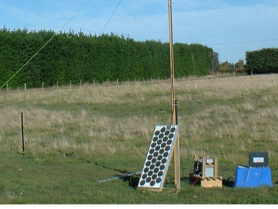 This picture shows the solar panel and its wooden frame