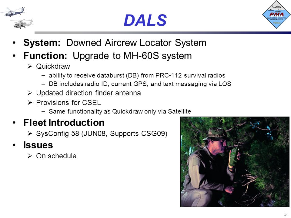 DALS System: Downed Aircrew Locator System
