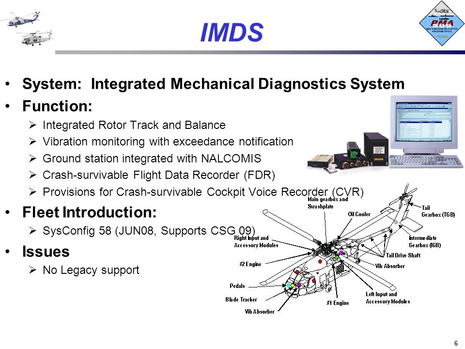IMDS System: Integrated Mechanical Diagnostics System Function: