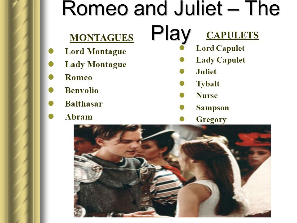 Romeo and Juliet – The Play