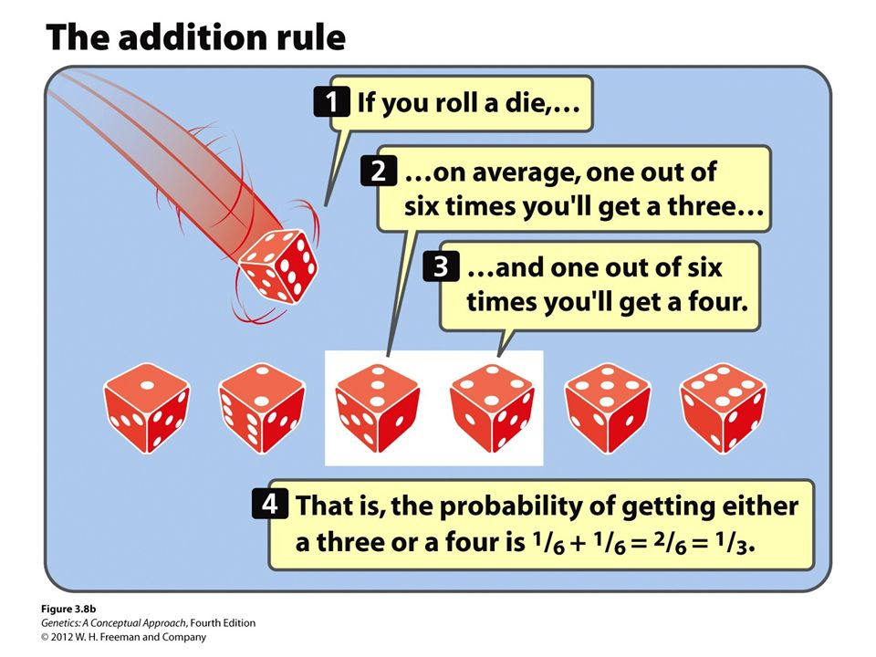 Figure 3.8 The multiplication and addition rules can be used to determine the probability of combination of events.