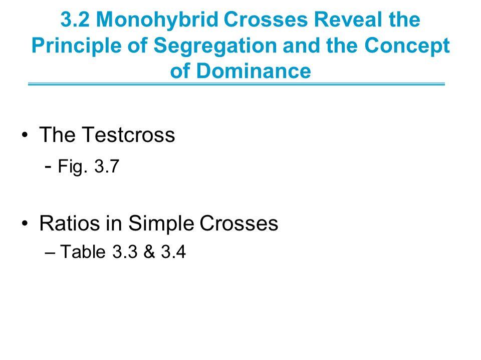 Ratios in Simple Crosses