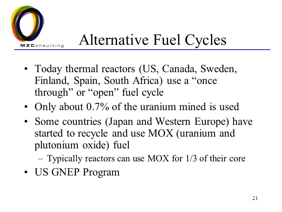 Alternative Fuel Cycles