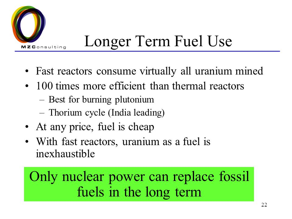 Only nuclear power can replace fossil fuels in the long term