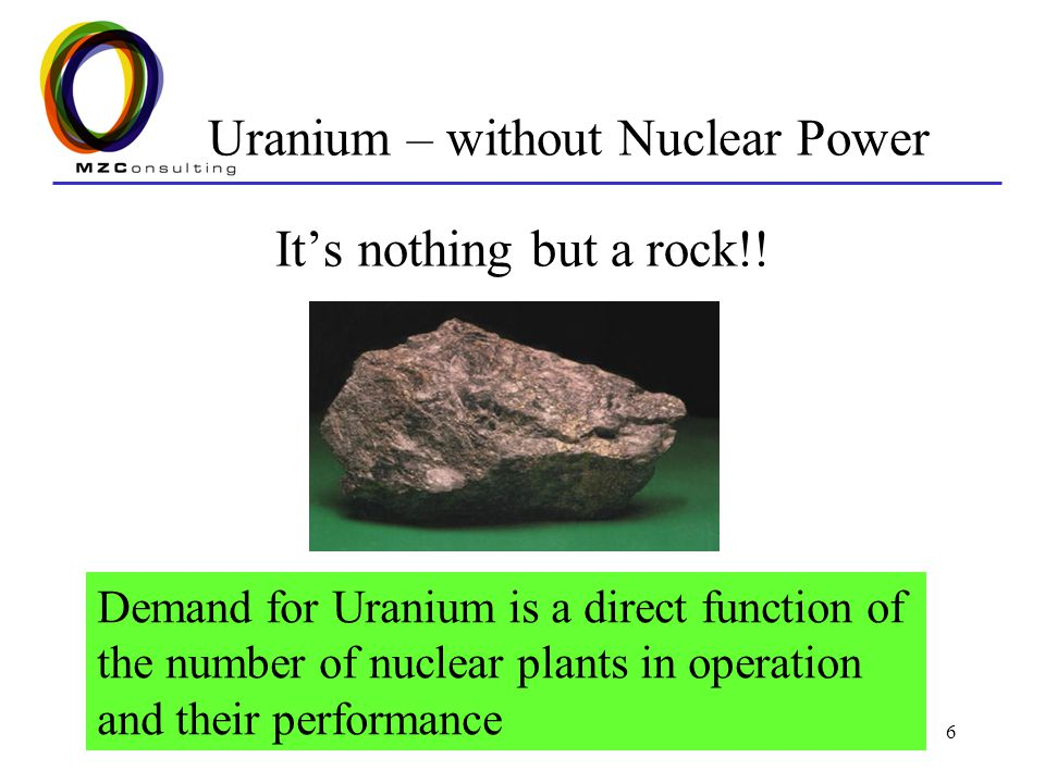 Uranium – without Nuclear Power