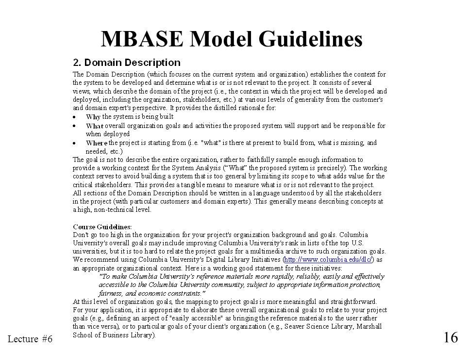 MBASE Model Guidelines