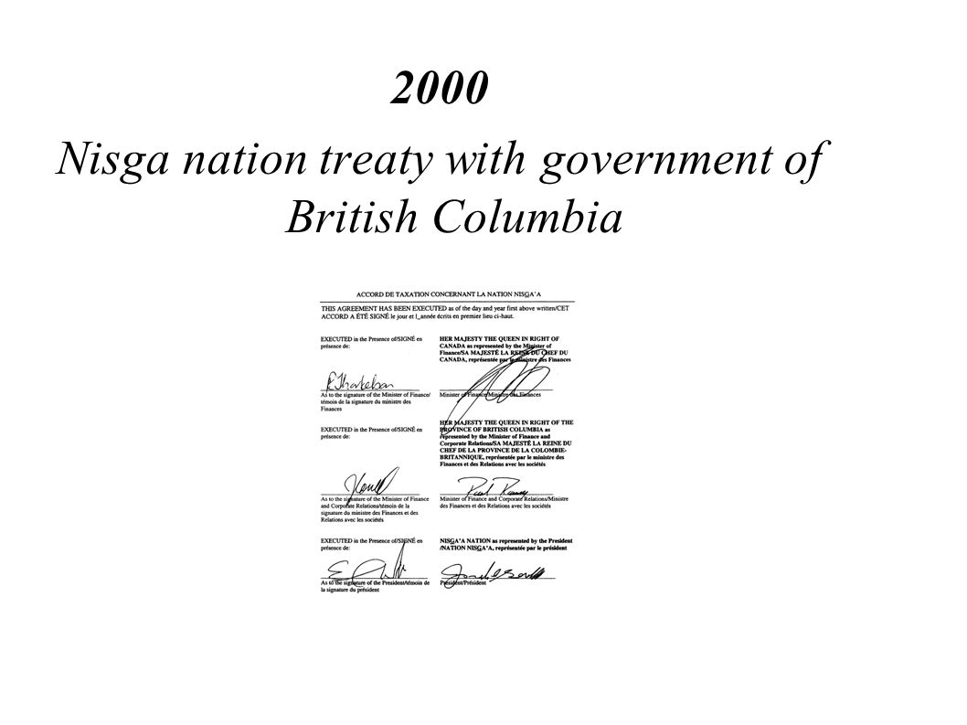 Nisga nation treaty with government of British Columbia