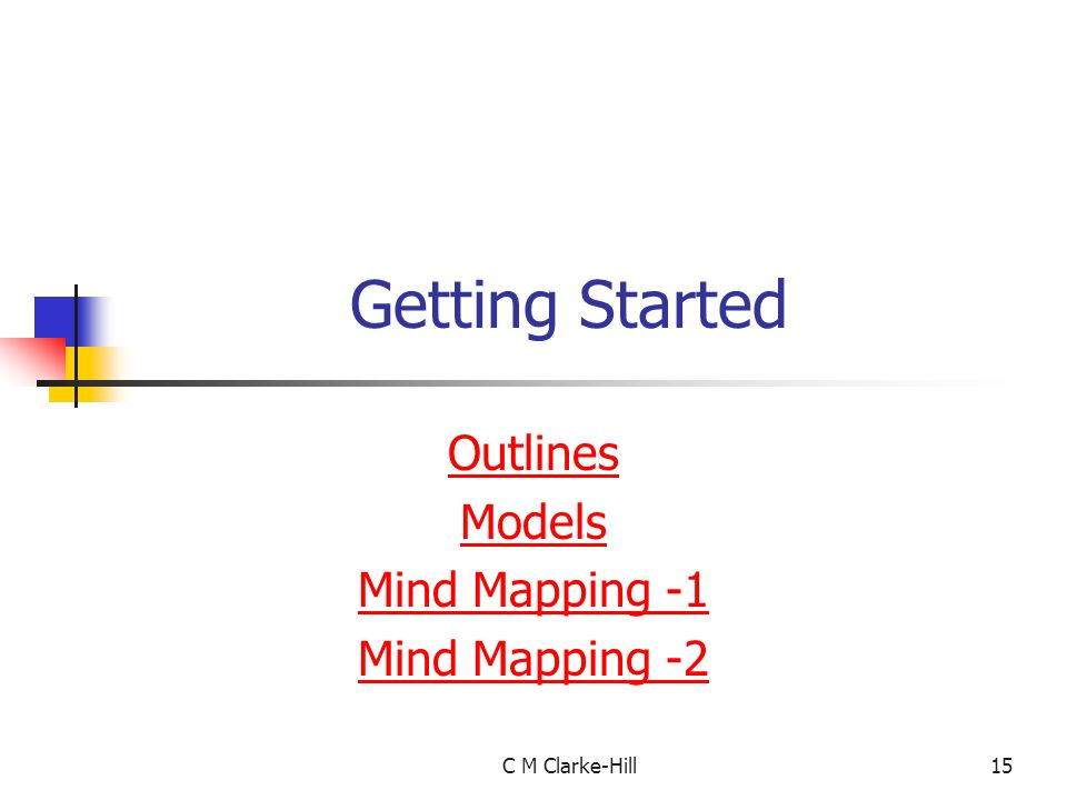 Outlines Models Mind Mapping -1 Mind Mapping -2