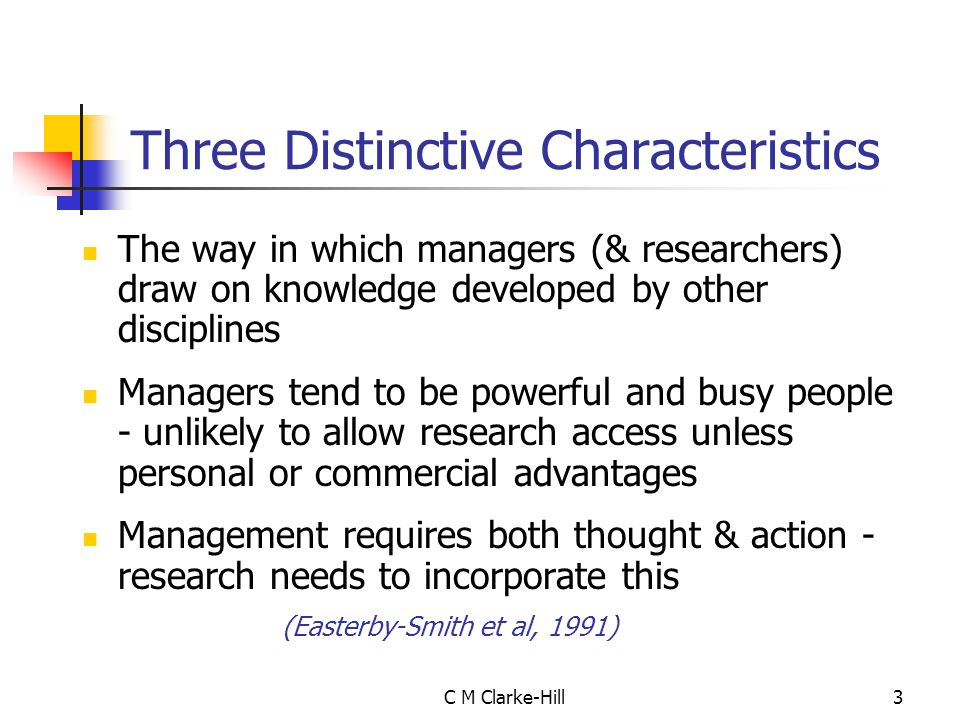 Three Distinctive Characteristics