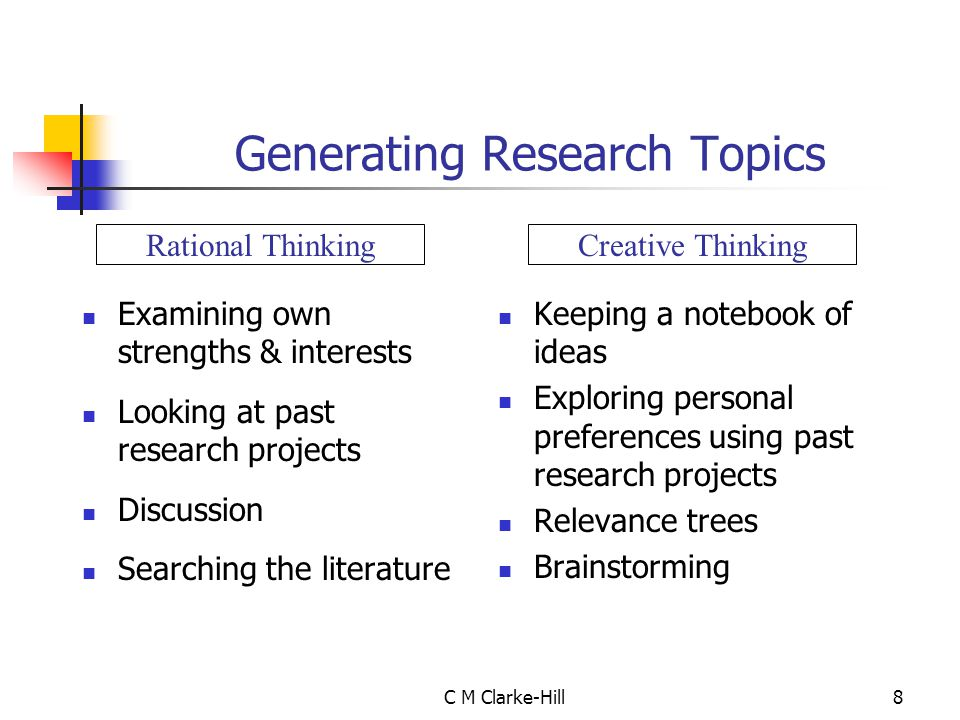 Generating Research Topics