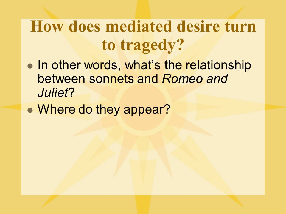 How does mediated desire turn to tragedy