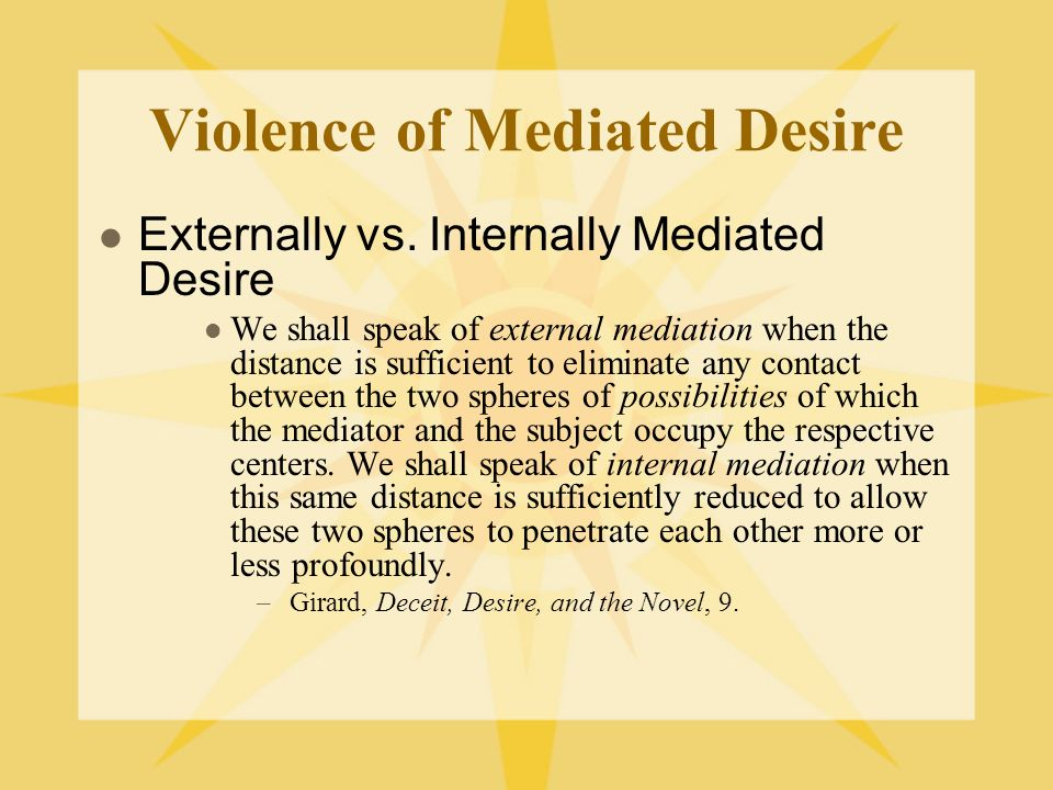 Violence of Mediated Desire