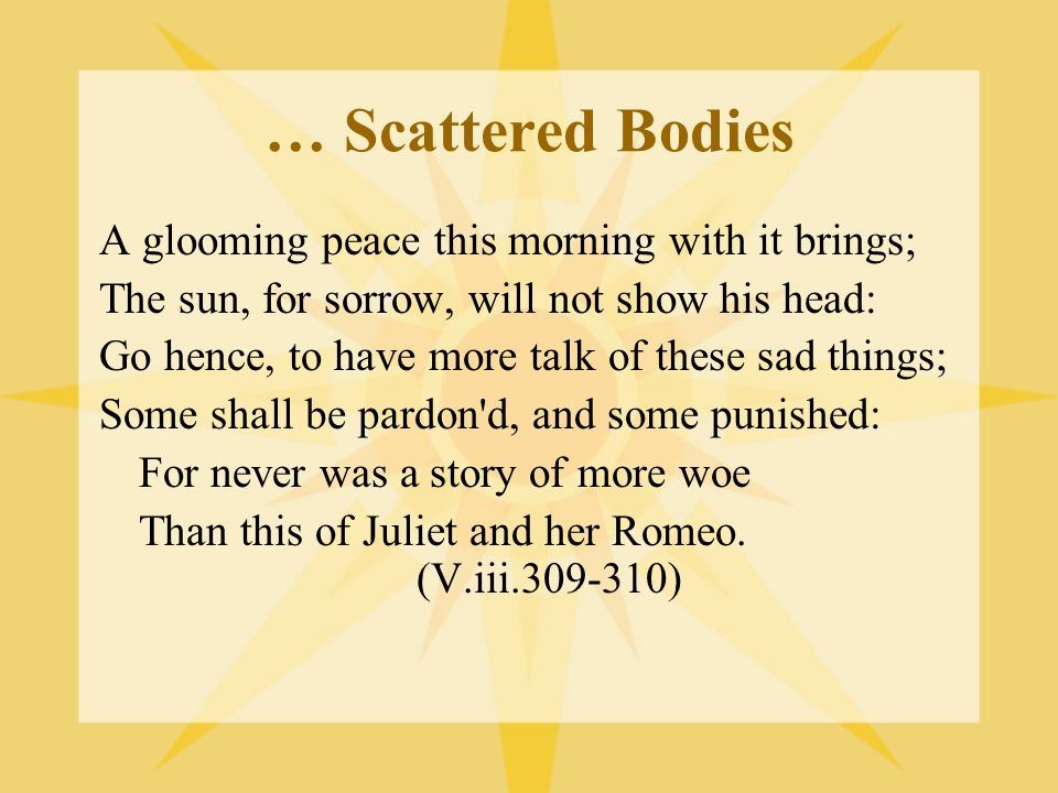 … Scattered Bodies A glooming peace this morning with it brings;