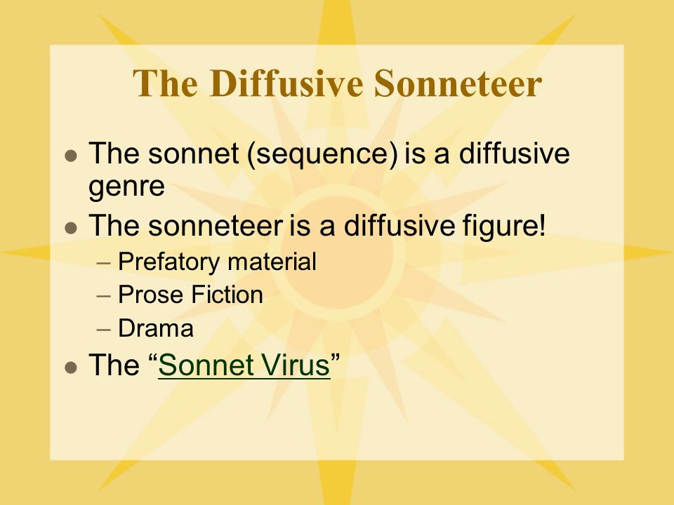 The Diffusive Sonneteer