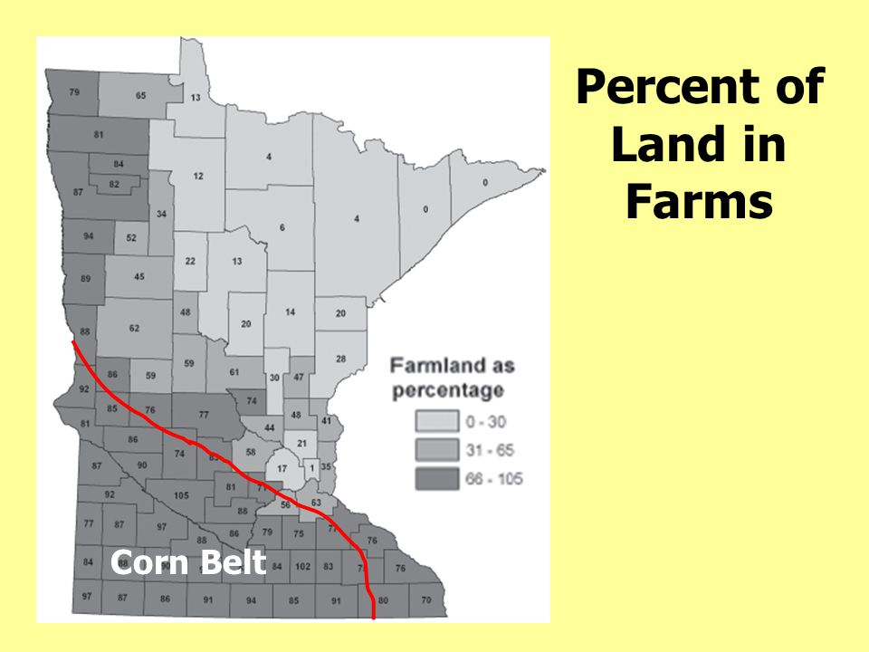Percent of Land in Farms