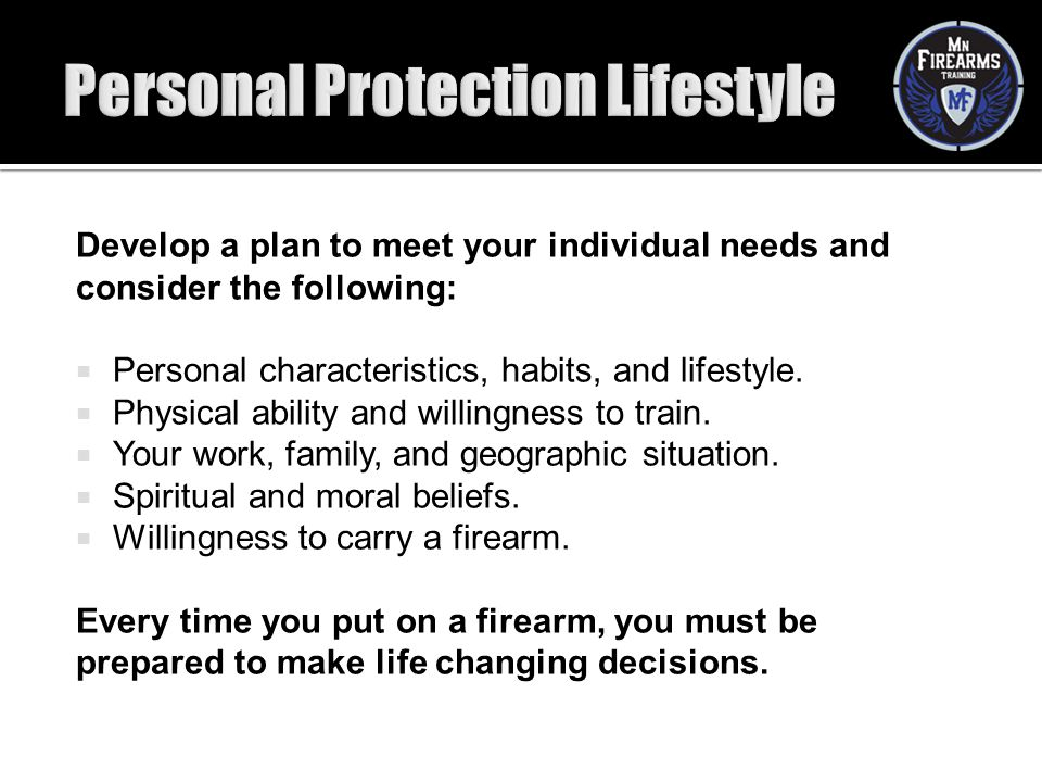 Personal Protection Lifestyle