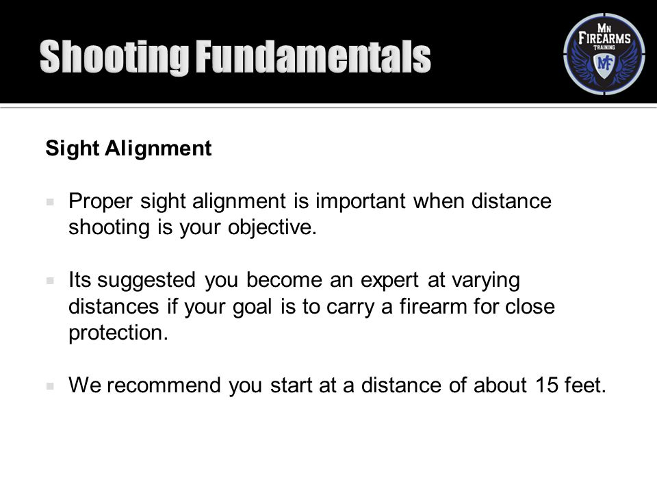 Shooting Fundamentals