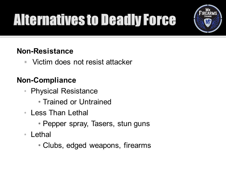 Alternatives to Deadly Force