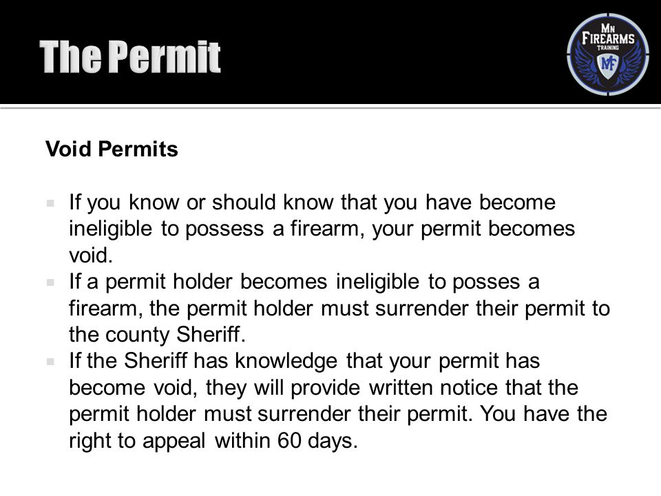 The Permit Void Permits