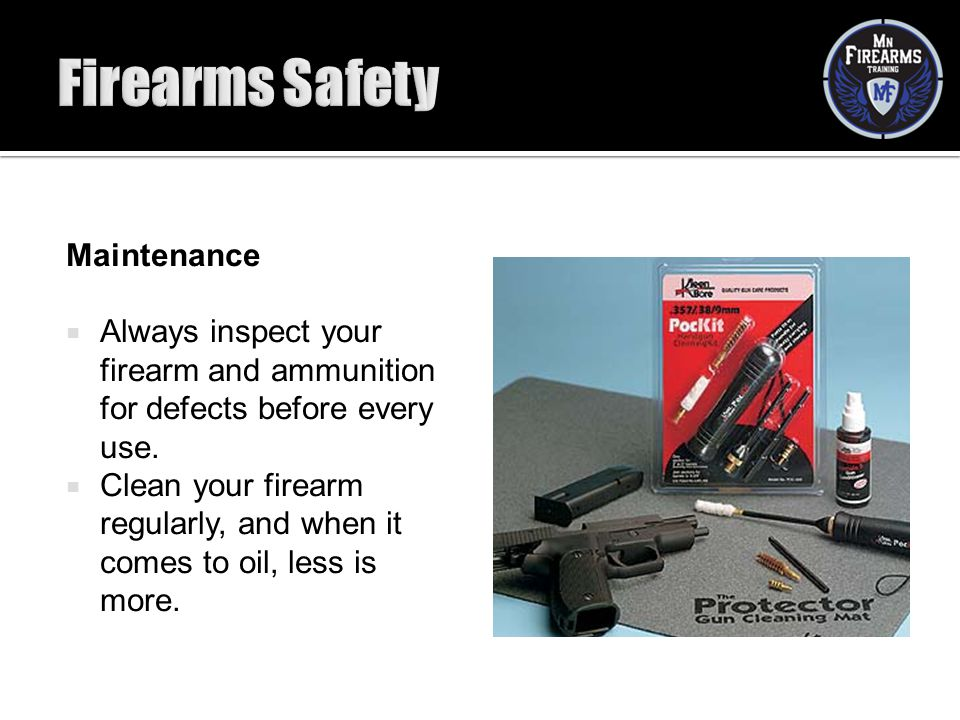 Firearms Safety Maintenance