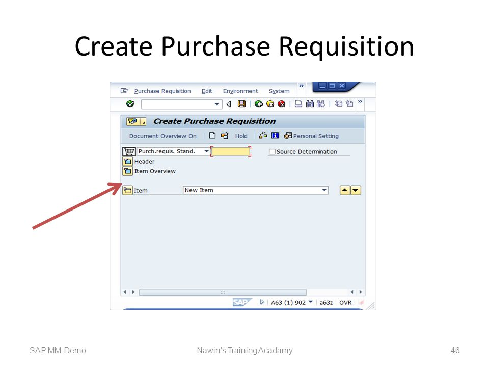 Create Purchase Requisition