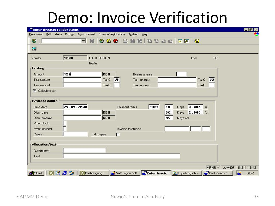 Demo: Invoice Verification