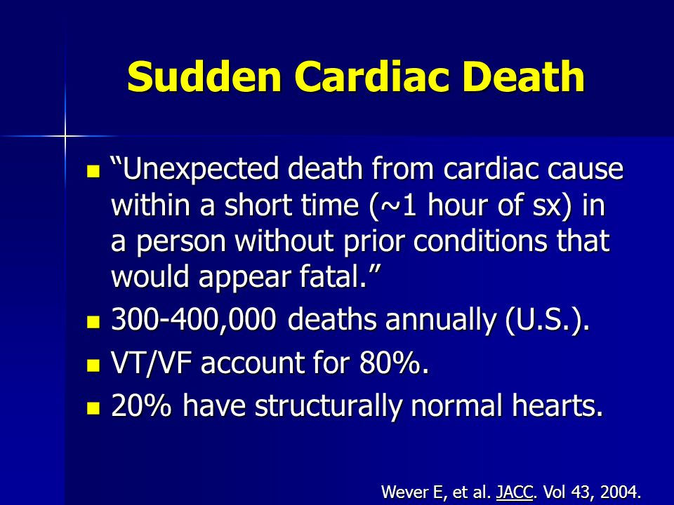 Sudden Cardiac Death