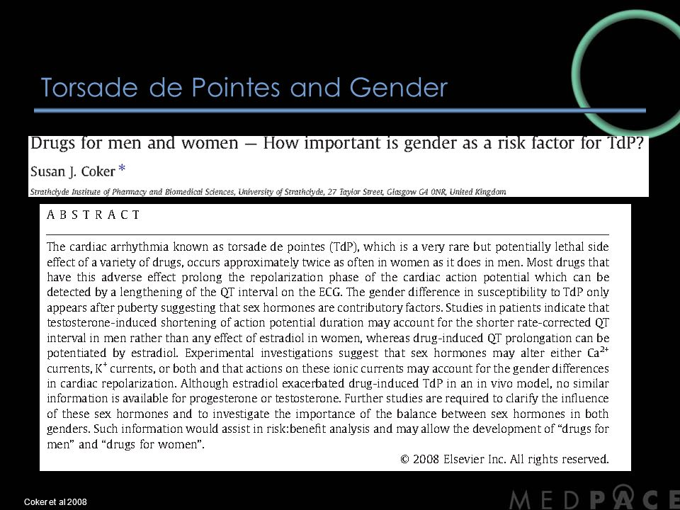 Torsade de Pointes and Gender