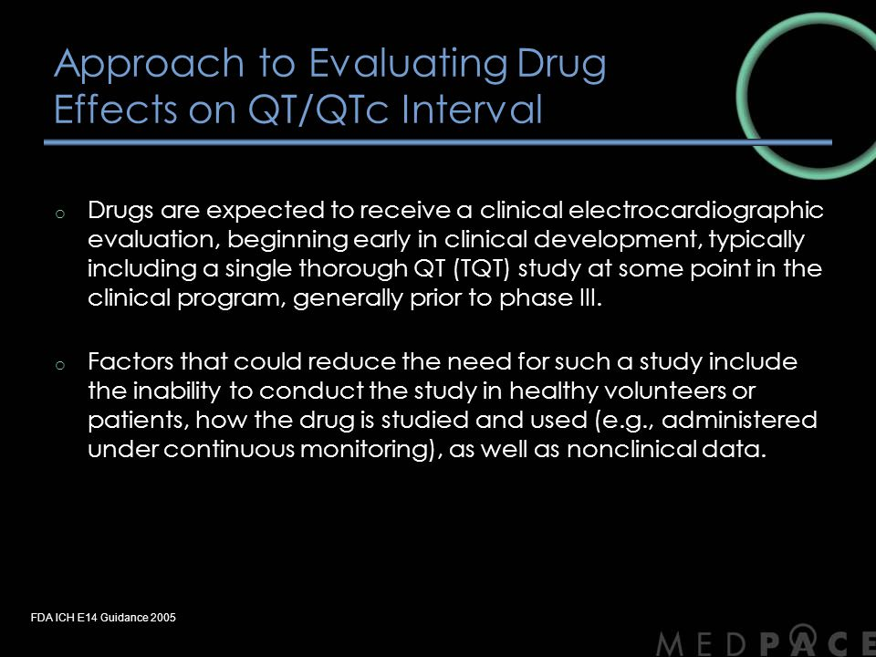 Approach to Evaluating Drug Effects on QT/QTc Interval