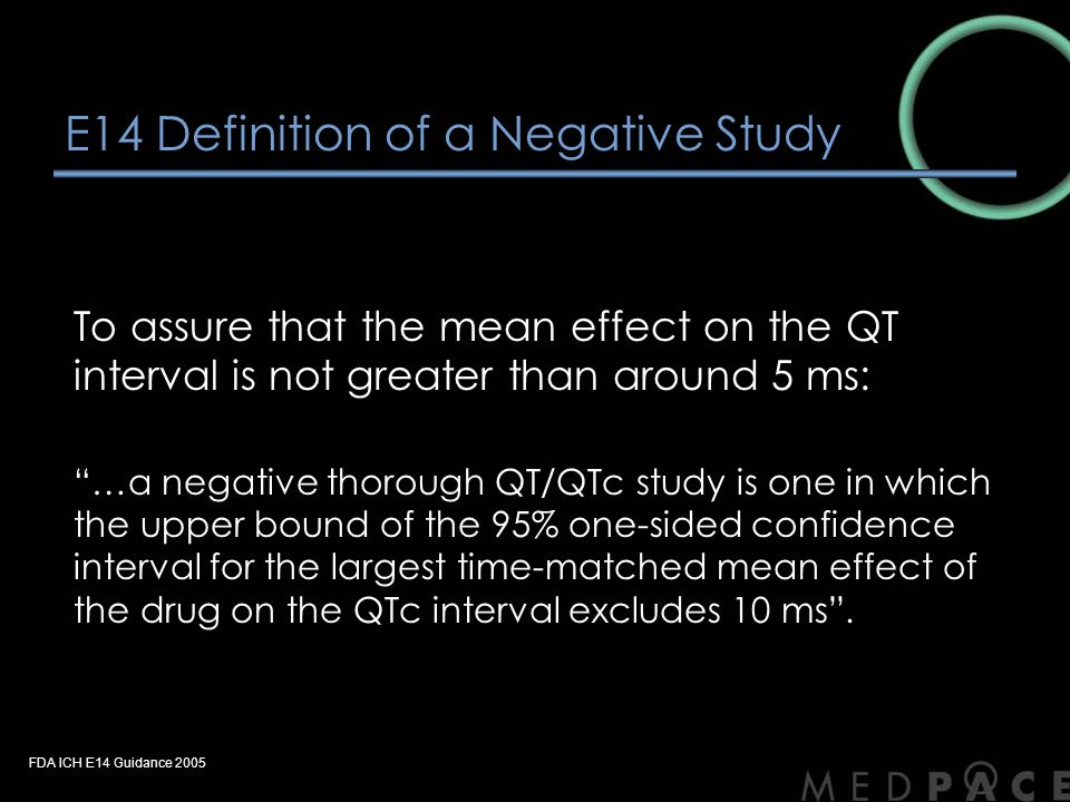 E14 Definition of a Negative Study