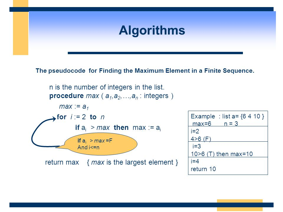 Algorithms n is the number of integers in the list.