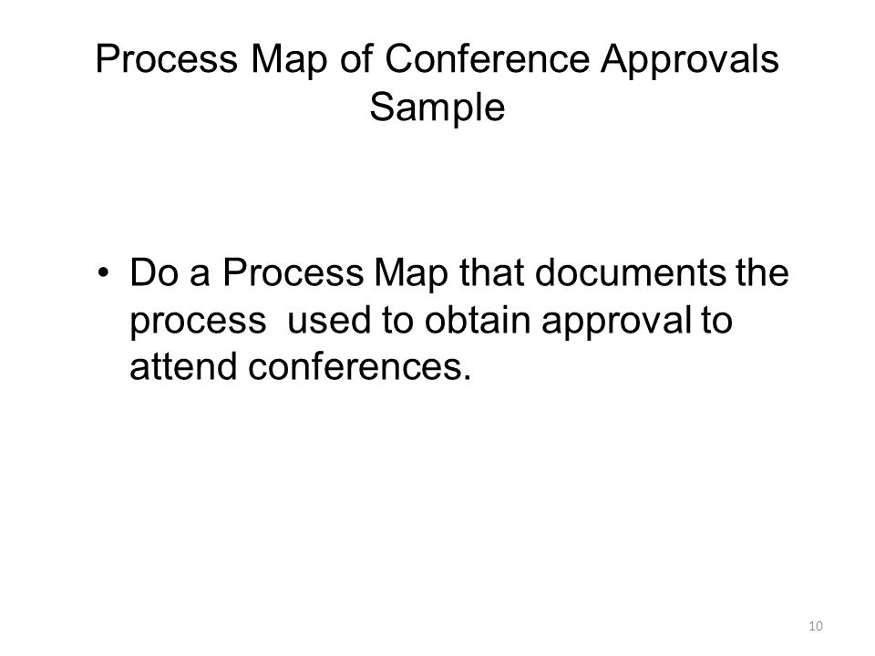 Process Map of Conference Approvals Sample