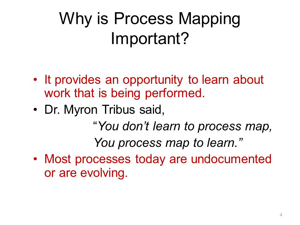 Why is Process Mapping Important
