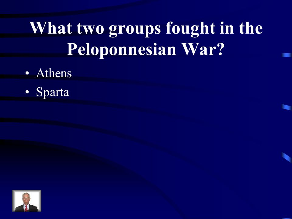 What two groups fought in the Peloponnesian War