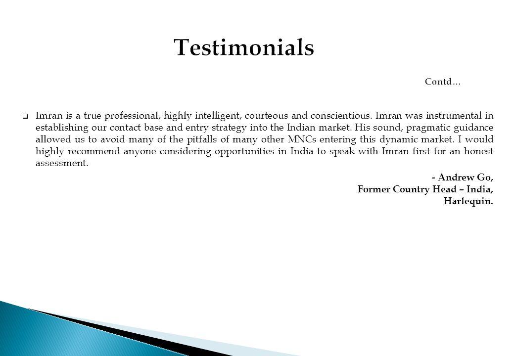 Testimonials Contd…