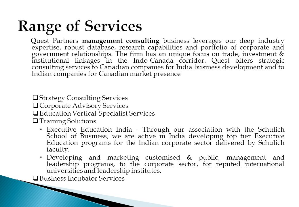 Range of Services