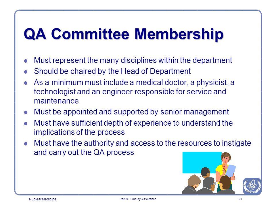 QA Committee Membership