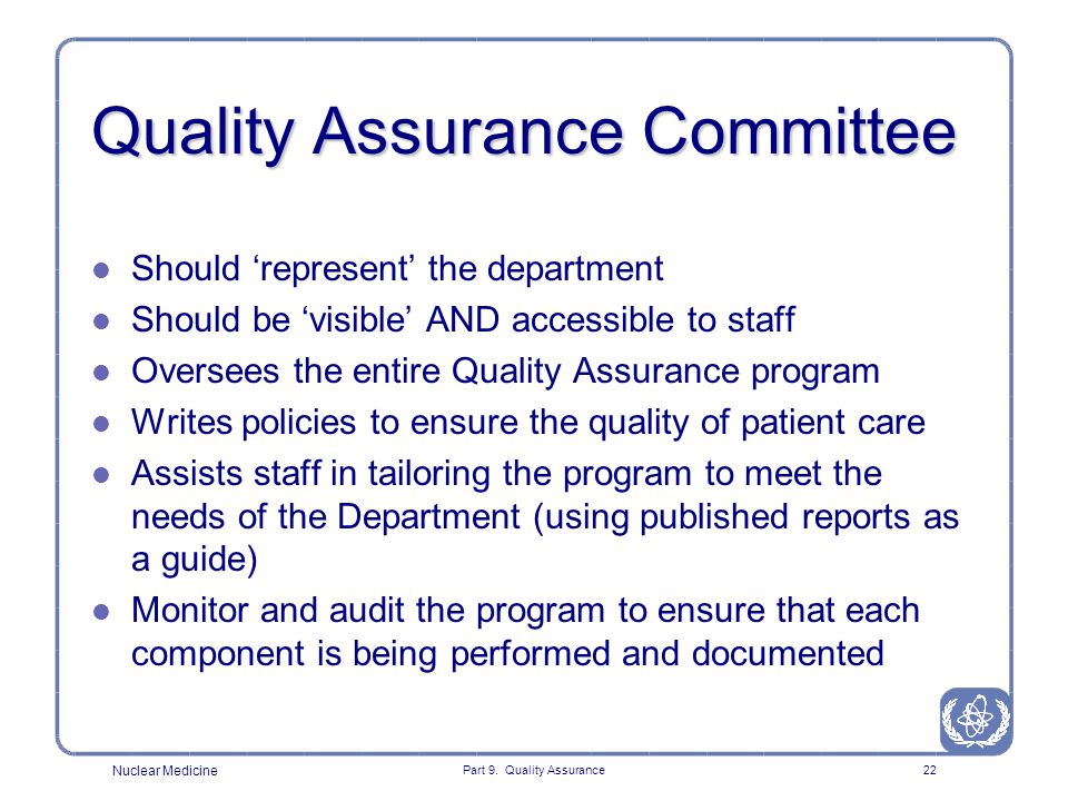Quality Assurance Committee